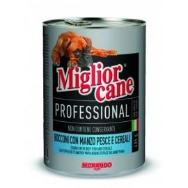 Miglior cane Meat/Fish - консерва для собак, кусочки с мясом и рыбой, 405г