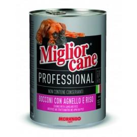 Miglior cane Lamb/Rice - консерва для собак, кусочки с ягнёнком и рисом, 405г