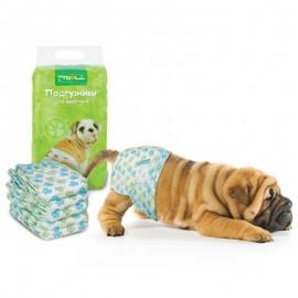 DP02 Подгузник Triol для собак S, вес собаки 4-7 кг (уп.20шт.)