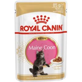 Royal Canin Kitten Maine Coon (Персиан) - кусочки в соусе для котят породы мейн-кун  (12 штук по 85г)