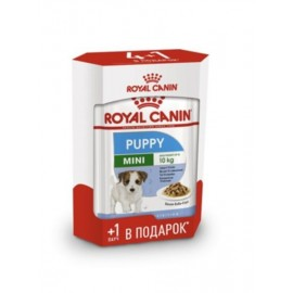 01.Royal Canin Mini Puppy - паучи для щенков мелких пород в соусе (4+1 в подарок по 85г)