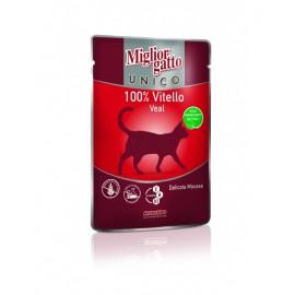 MC Miglior Gatto UNICO VEAL - паучи для кошек с телятиной  (упаковка 48 штук по 85г)