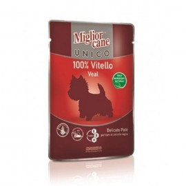 MC Miglior Cane UNICO VEAL - паучи для собак с телятиной (упаковка 24 штуки по 100г)