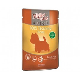 MC Miglior Cane UNICO TURKEY - паучи для собак с индейкой (упаковка 24 штуки по 100г)