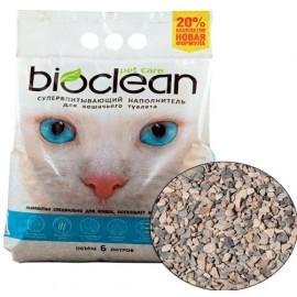 Наполнитель для кошачьего туалета BIOCLEAN для кошек, супервпитывающий, 6 л.(2,8 кг), мелкая фракция, 6 л (2,8 кг)