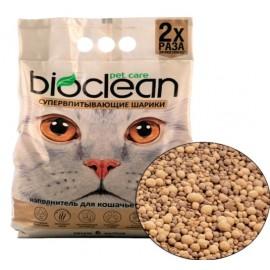 Наполнитель для кошачьего туалета BIOCLEAN супервпитывающие шарики, сферическая форма, 6 л (2,8 кг)