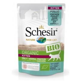 Schesir Bio Organic Kitten Chicken - пауч для котят Курица, 85г