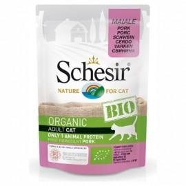Schesir Bio Organic Pork - пауч для взрослых кошек Свинина, 85г