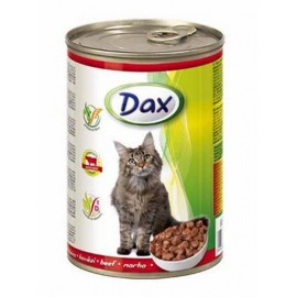 Dax for Cat - консерва для кошек с говядиной, кусочками, 415г