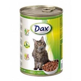 Dax for Cat - консерва для кошек с кроликом, кусочками, 415г