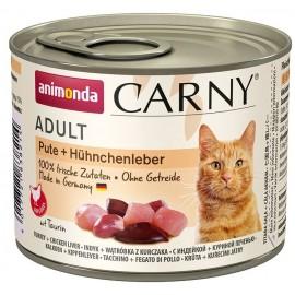 Carny Adult - с индейкой и куриной печенью, 200г