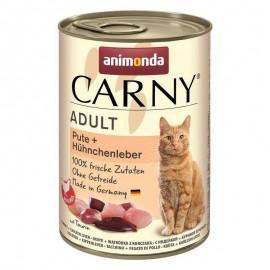 Carny Adult - с индейкой и куриной печенью, 400г