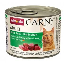 Carny Adult - с говядиной, индейкой и кроликом, 200г