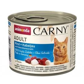 Carny Adult - с говядиной, треской и петрушкой, 200г
