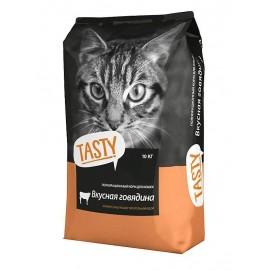 """Корм сухой """"TASTY"""" для кошек с говядиной"""