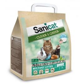 Sanicat Clean & Green Cellulose - экологичная гигиеничная бумажно-целлюлозная подстилка, 7л