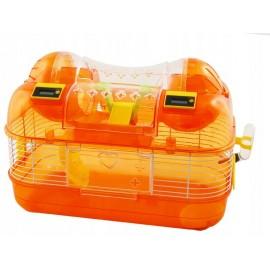 Клетка Panama Pet для мелких грызунов, бело-оранжевая, 44x27x29см