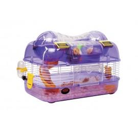 Клетка Panama Pet для мелких грызунов, бело-фиолетовая, 44x27x29см
