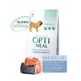 Optimeal Hypoallergenic Medium Sensitive Skin & Coat Salmon - сухой гипоаллергееный корм для собак средних пород c лососем