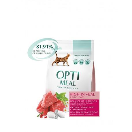 Optimeal Adult Cats Veal - сухой корм для взрослых кошек с телятиной