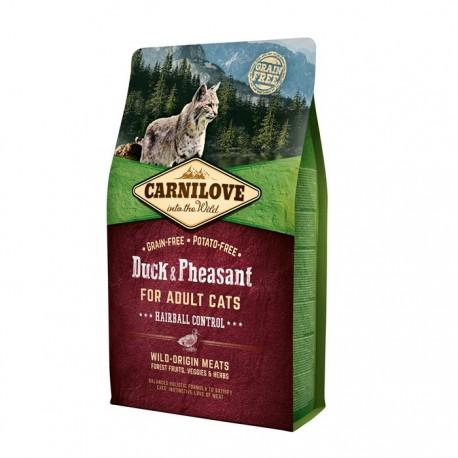 Carnilove Duck & Pheasant Hairball Control for Cats - беззерновой корм для кошек против комков шерсти в желудке, утка и фазан