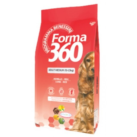 FORMA 360 Adult Medium Lamb&Rice - корм для собак средних пород с ягненком и рисом