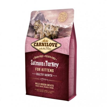 Carnilove Salmon & Turkey for Kittens - беззерновой корм для котят, лосось и индейка