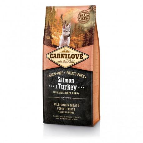 Carnilove Salmon &Turkey for Large Breed - беззерновой корм для щенков крупных пород, лосось