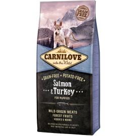 Carnilove Salmon & Turkey for Puppies - беззерновой корм для щенков всех пород, лосось и индейка