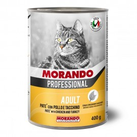 Morando Cat Professional Chicken/Turkey - консерва для кошек, паштет с курицей и индейкой, 400г