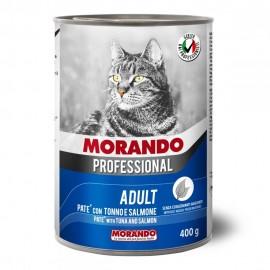 Morando Cat Professional Tuna/Salmon - консерва для кошек, паштет с лососем и тунцом, 400г