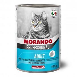 Morando Cat Professional Fish/Shrimps - консерва для кошек, паштет с рыбой и креветками, 400г