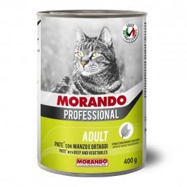 Morando Cat Professional Beef/Vegetables - консерва для кошек, паштет с говядиной и овощами, 400г