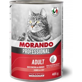 Morando Cat Professional Beef - консерва для кошек, кусочки в соусе с говядиной, 405г