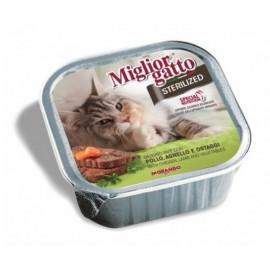 Miglior Gatto Steril - ламистеры для стерилизованных кошек с курицей и ягненком (упаковка 16 штук по 100г)