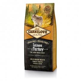 Carnilove Salmon &Turkey for Large Breed Adult - беззерновой корм для взрослых крупных пород, лосось