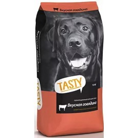 """Корм сухой """"TASTY"""" для взрослых собак с говядиной"""