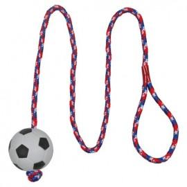"""3307 Игрушка """"TRIXIE"""" для собаки """"Каучуковый футбольный мячик на верёвке"""", диам.6см/1м"""