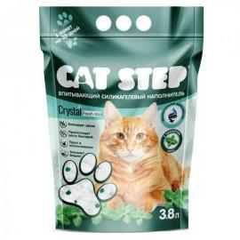 """Cat Step """"Мята""""- силикагелевый наполнитель для кошек, 3,8л."""