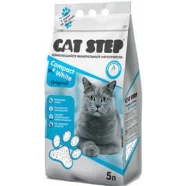 Cat Step Compact White Original Наполнитель комкующийся минеральный (5 л)