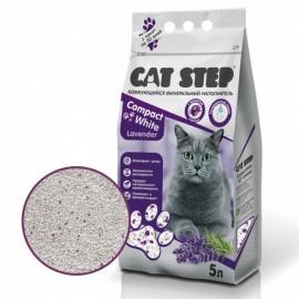 Cat Step Compact White Lavеnder Наполнитель комкующийся минеральный (5 л)