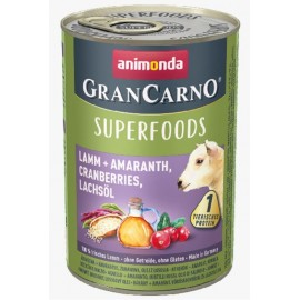 Gran Carno Superfoods (Ягненок, амарант, клюква, лососевое масло) 400гр.