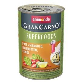 Gran Carno Superfoods (Индейка, мангольд, шиповник, льняное масло) 400гр.
