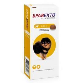 Таблетки Бравекто (Bravecto) Защита от клещей и блох для собак 2-4,5 кг