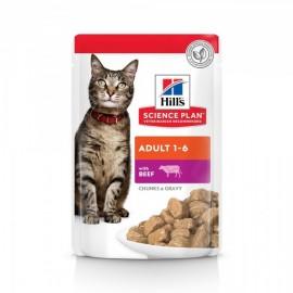 Пресервы HILL'S для взрослых кошек с говядиной, 100 г