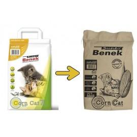 Benek (Бенек) Corn Cat (Корн Кэт) натуральный кукурузный комкующийся наполнитель, 25 л
