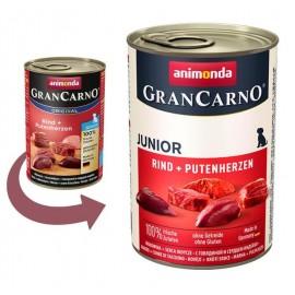 Gran Carno Fleisch Junior - говядина с сердцем индейки (упаковка 12 штук)