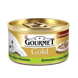"""Консервы для кошек Gourmet """"Gold"""" с кроликом и печенью, 85г (12 штук)"""