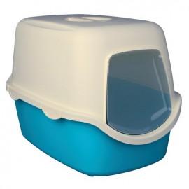 """40275 Туалет """"TRIXIE"""" для кошек """" Vico """", со сьемной крышей и дверью, аквамарин-кремовый, 40*40*56 см"""