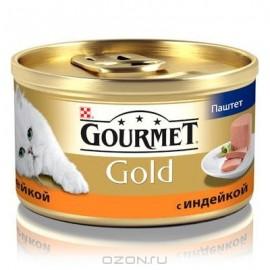 """Консервы для кошек Gourmet """"Gold"""" с индейкой, 85г"""
